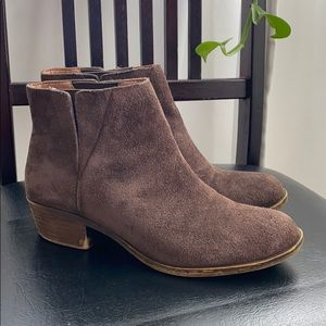 Lucky Brand brown suede booties